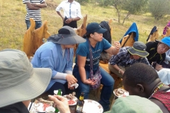 Guests Eating in the Wilderness